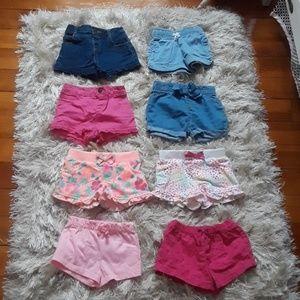 8 Pairs of Baby Girl Shorts
